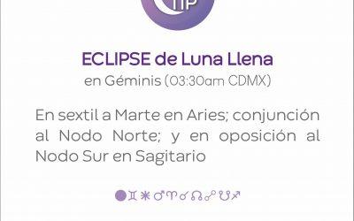XiloTip: Eclipse de Luna Llena en Géminis.