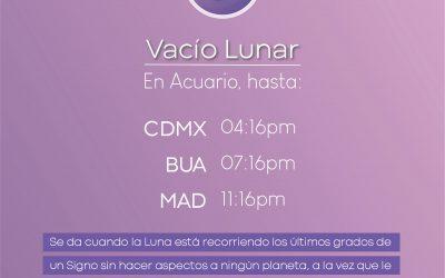 Xilo Tip: Vacío Luna en Acuario.