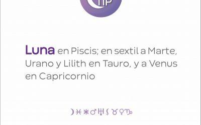 XiloTip: Luna en Piscis en sextil a Marte.