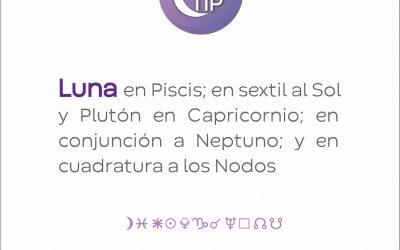 XiloTip: Luna en Piscis en sextil al Sol y Plutón en Capricornio.