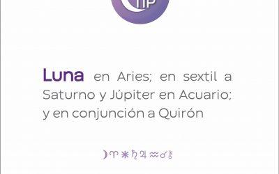 XiloTip: Luna en Aries en sextil a Saturno y Júpiter en Acuario.
